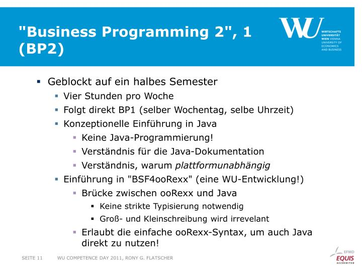 """Business Programming 2"", 1"