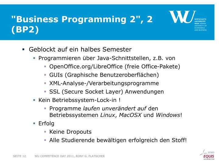 """Business Programming 2"", 2"