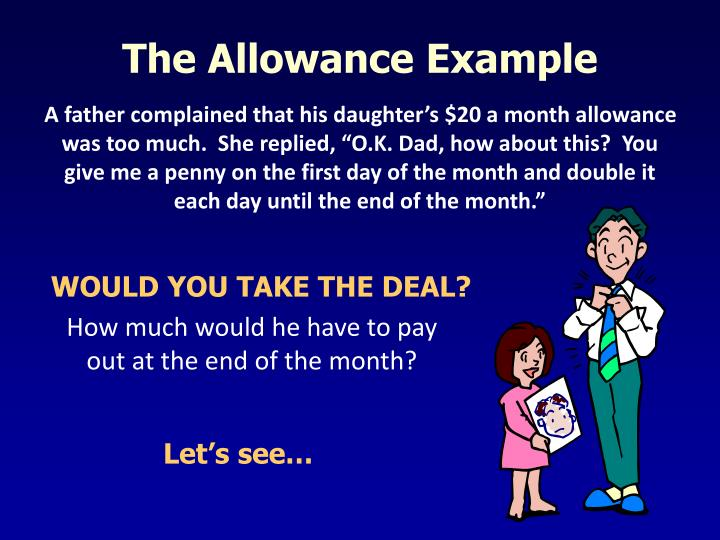 The Allowance Example