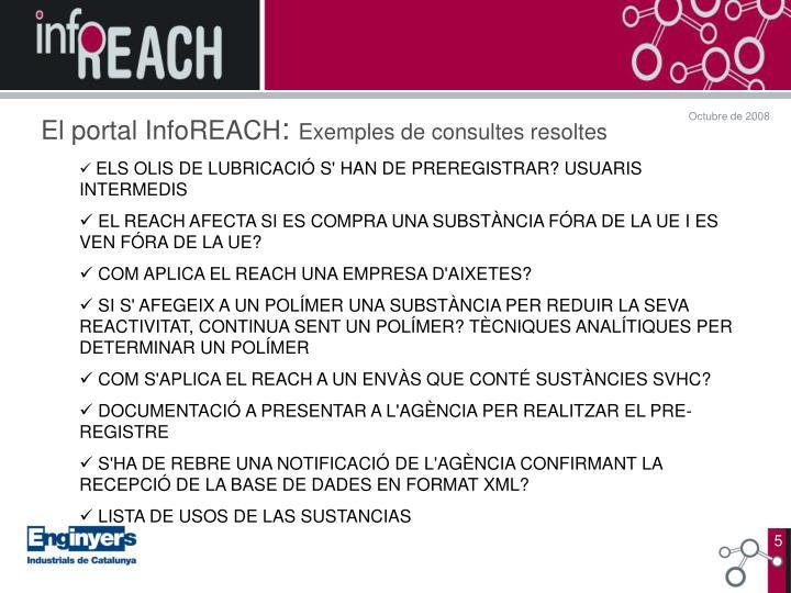 El portal InfoREACH