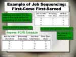 example of job sequencing first come first served