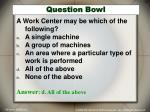 question bowl
