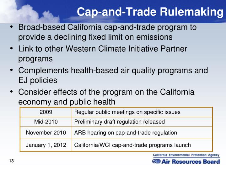 Cap-and-Trade Rulemaking