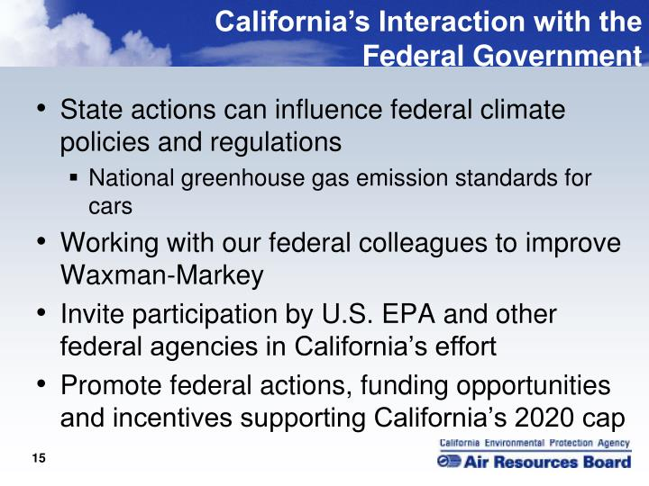 California's Interaction with the