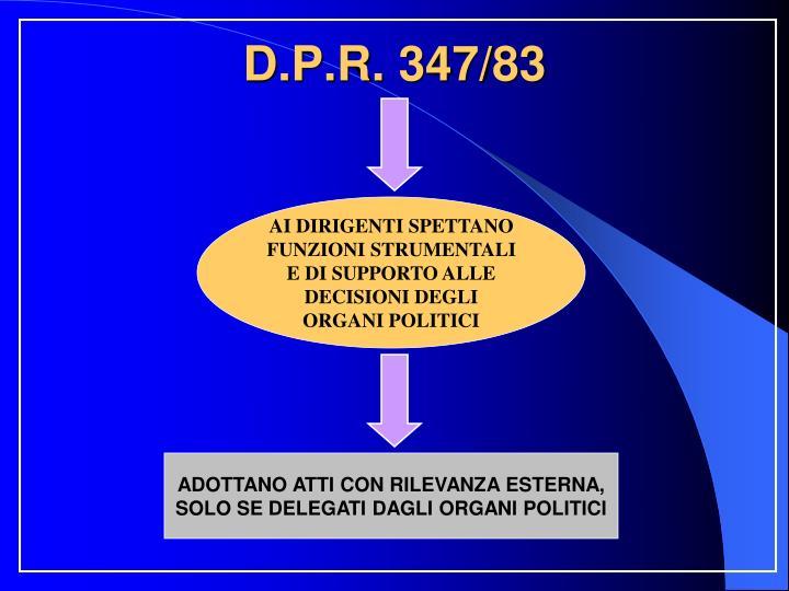 D.P.R. 347/83