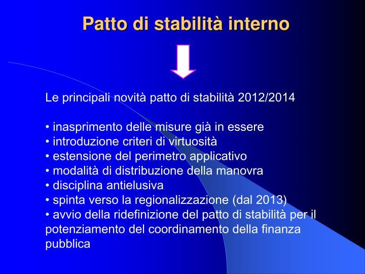 Patto di stabilità interno