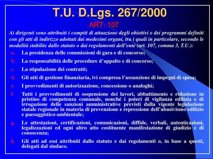 T.U. D.Lgs. 267/2000