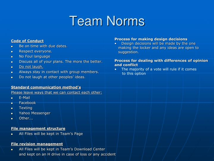 Team Norms