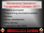 maintenance operations transportation complex mot