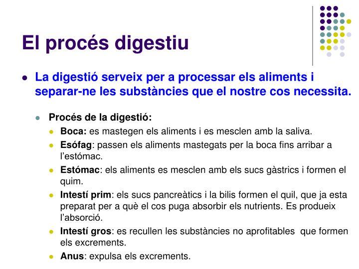 El procés digestiu