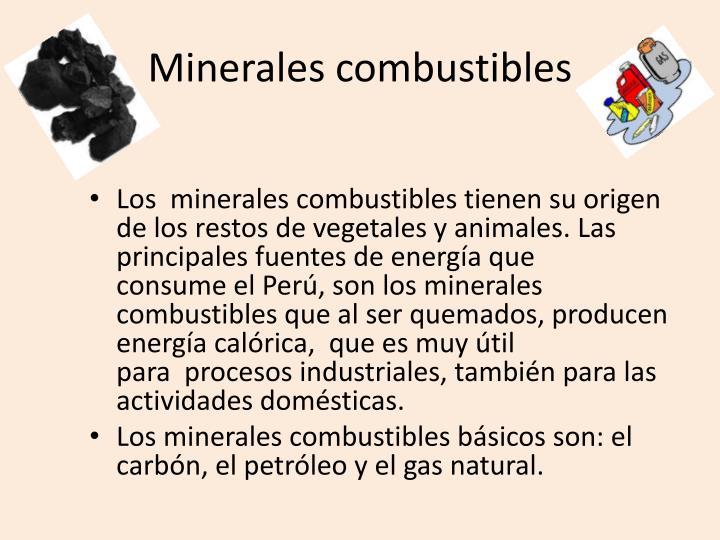 Minerales combustibles