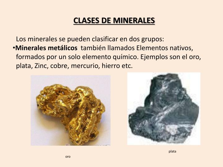 CLASES DE MINERALES