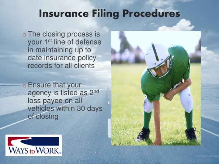 Insurance Filing Procedures