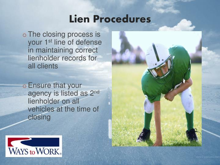 Lien Procedures