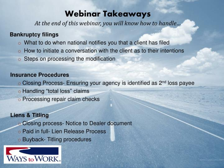 Webinar Takeaways