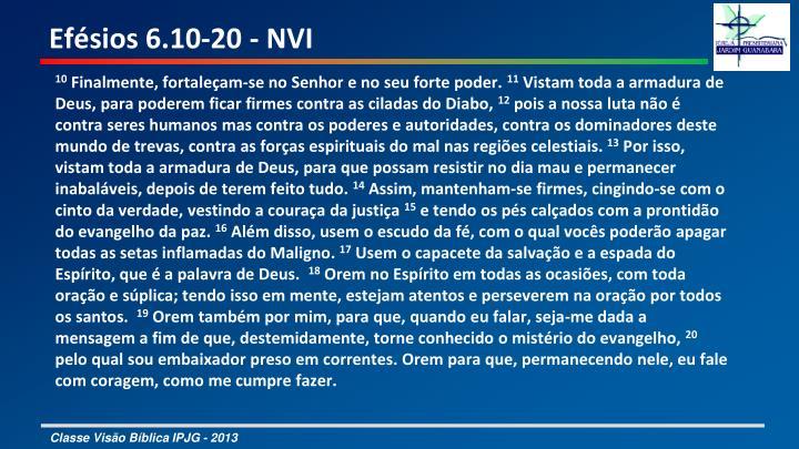 Efésios 6.10-20 - NVI