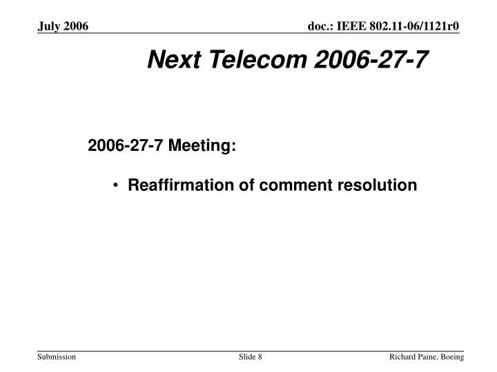 Next Telecom 2006-27-7