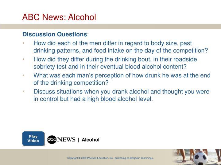 ABC News: Alcohol