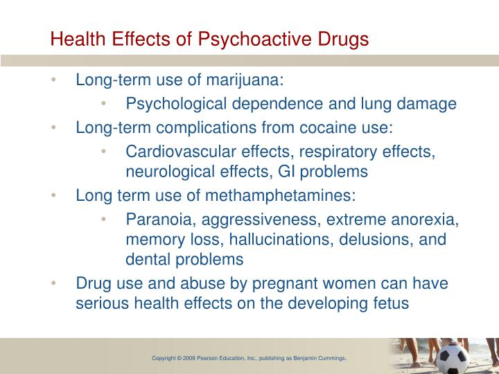 Health Effects of Psychoactive Drugs