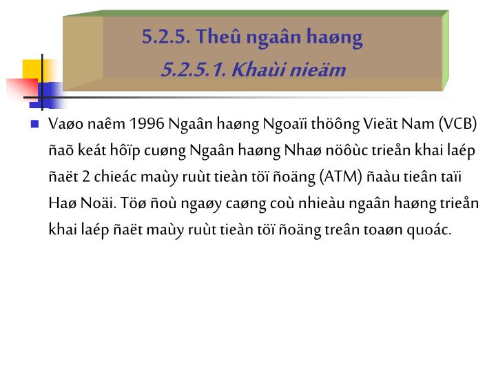 5.2.5. The ngan hang