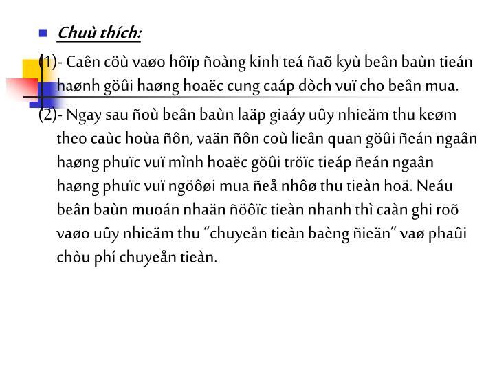 Chu thch: