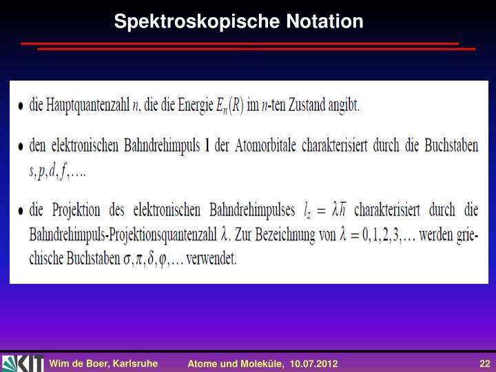 Spektroskopische Notation