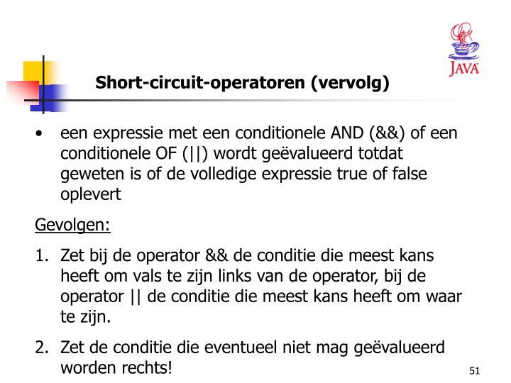Short-circuit-operatoren (vervolg)