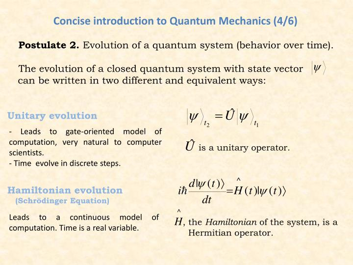 Concise introduction to Quantum Mechanics (4/6)