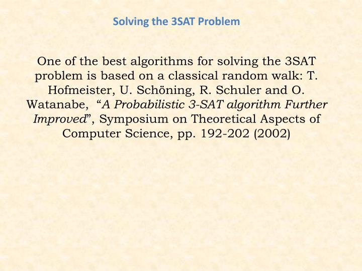 Solving the 3SAT Problem