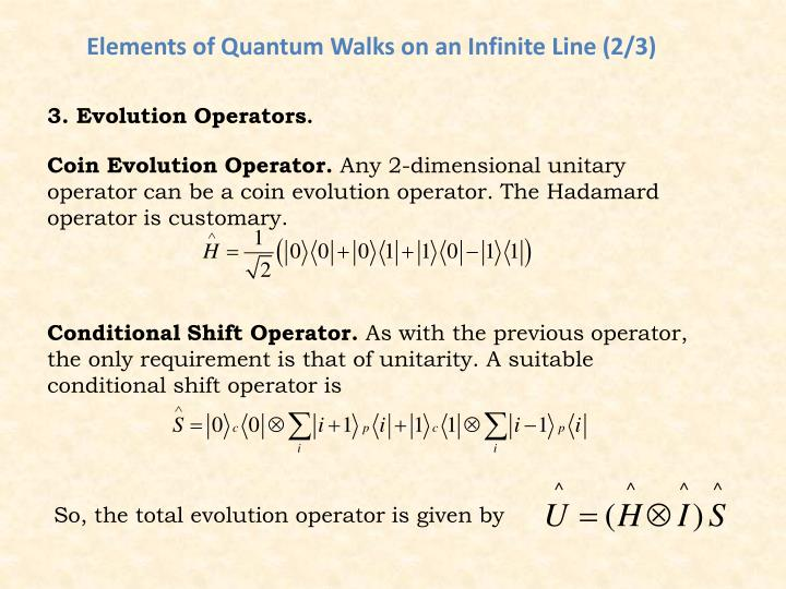 Elements of Quantum Walks on an Infinite Line (2/3)
