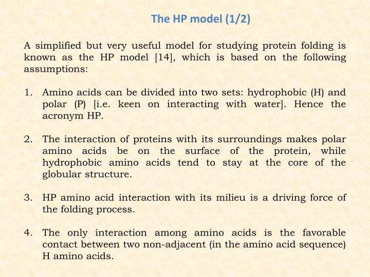 The HP model (1/2)