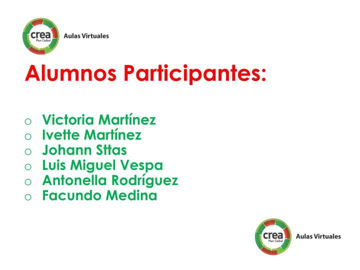 Alumnos Participantes: