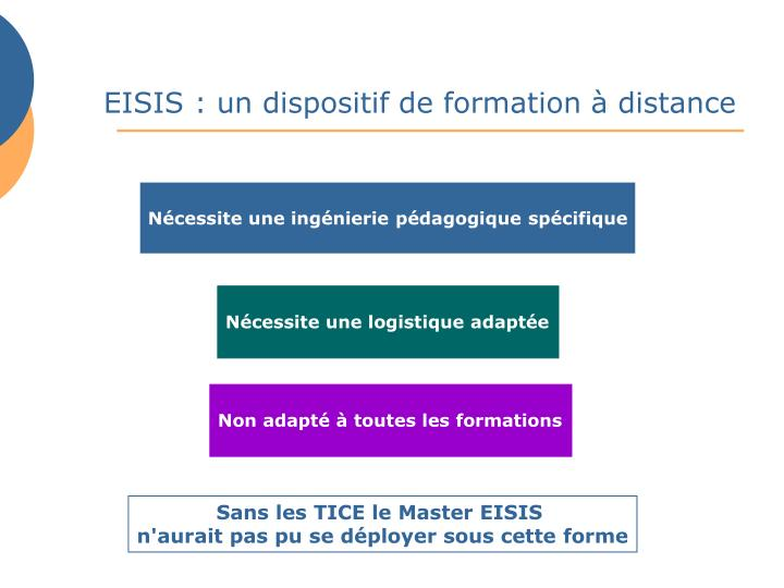 EISIS : un dispositif de formation à distance
