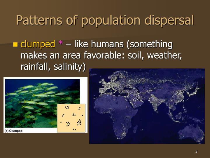 Patterns of population dispersal
