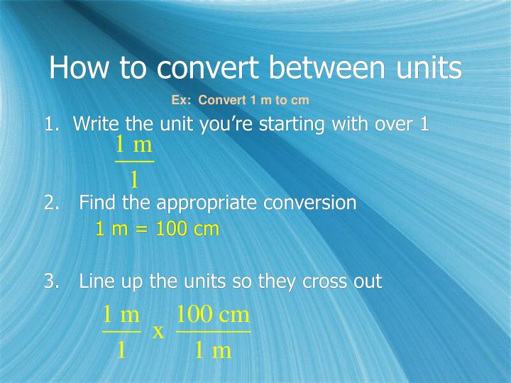 How to convert between units