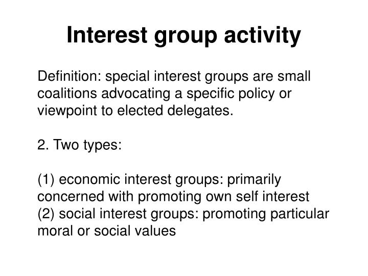 Interest group activity