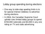 lobby group spending during elections