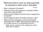mulroney tried to cover up cash payments he received in hotel rooms schreiber
