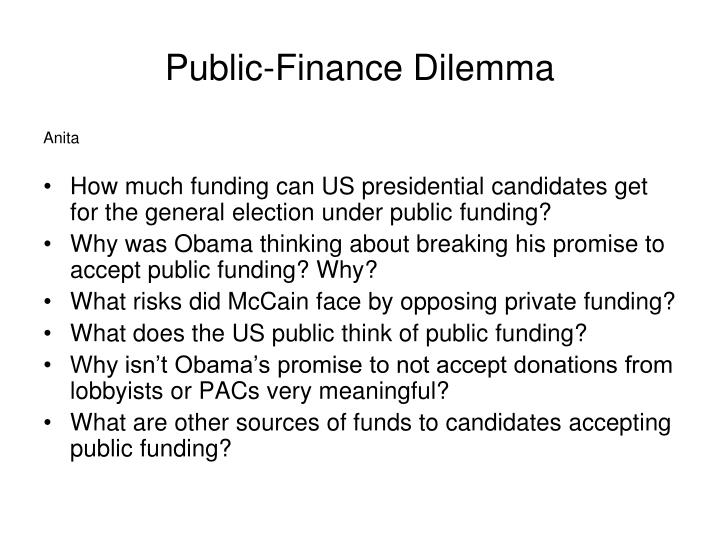 Public-Finance Dilemma
