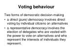 voting behaviour