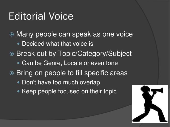 Editorial Voice