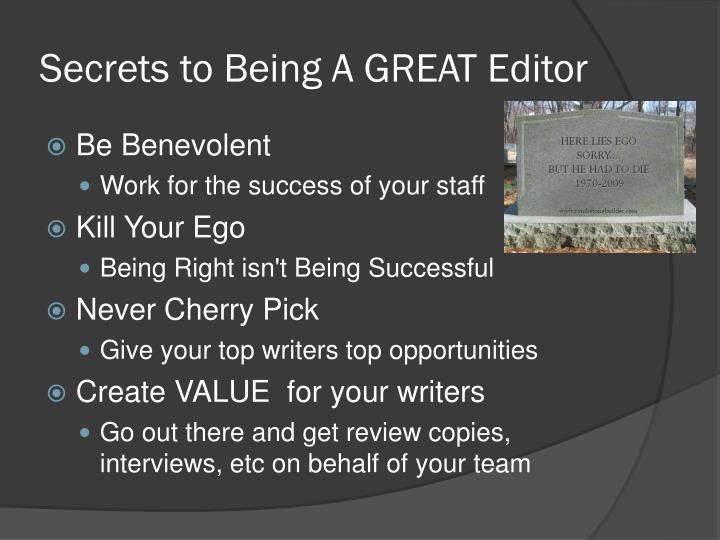 Secrets to Being A GREAT Editor
