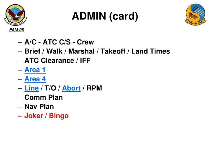 ADMIN (card)