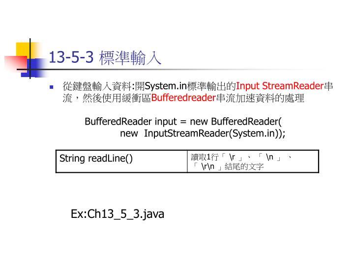 13-5-3 標準輸入