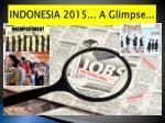 indonesia 2015 a glimpse