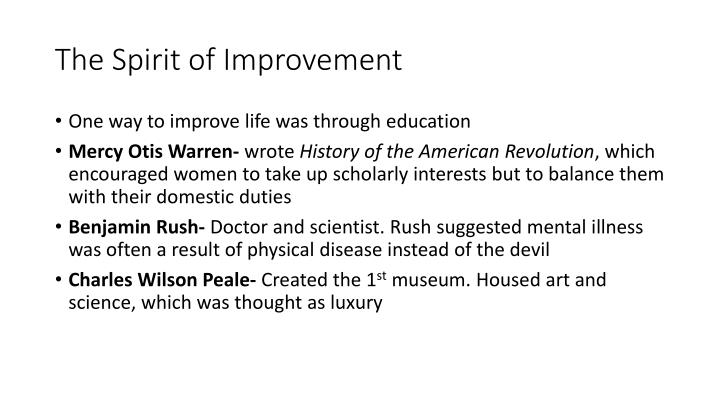 The Spirit of Improvement