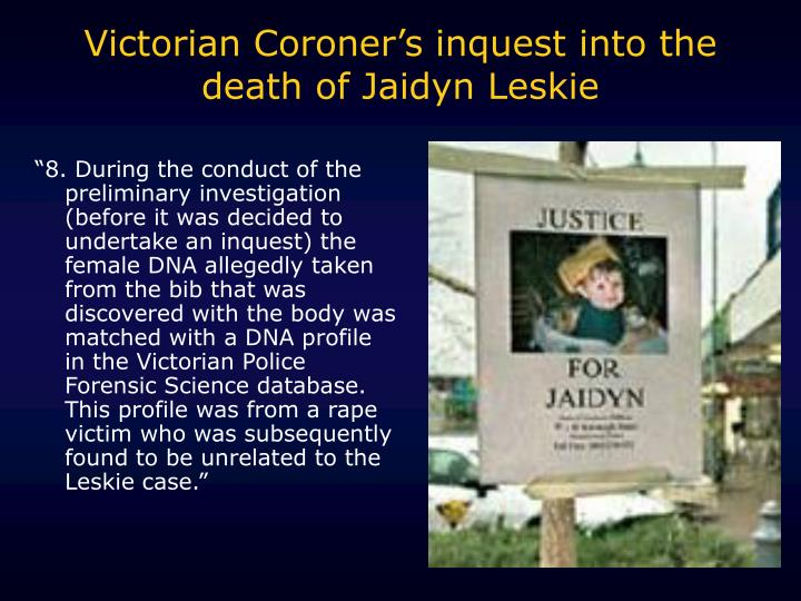 Victorian Coroner's inquest into the death of Jaidyn Leskie