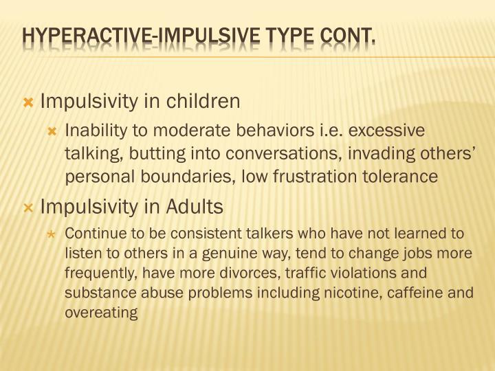 Impulsivity in children