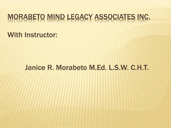 Morabeto mind legacy associates inc