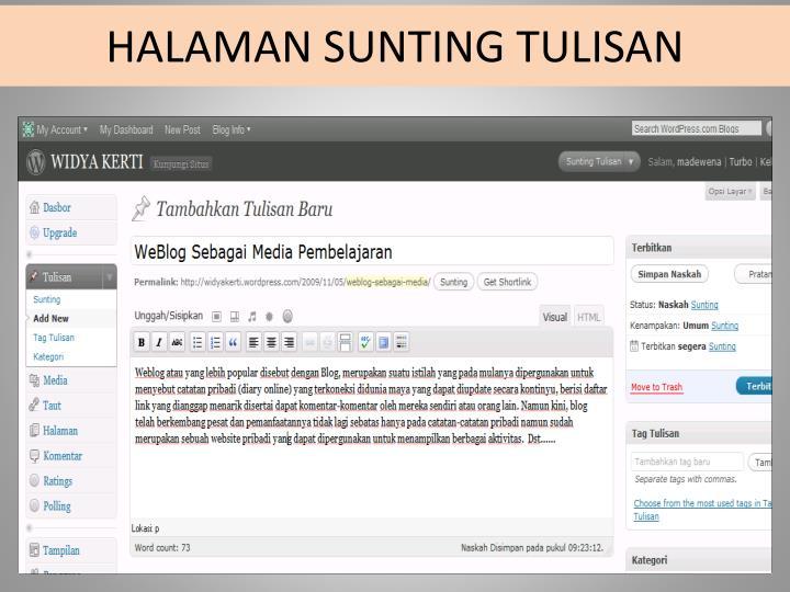 HALAMAN SUNTING TULISAN